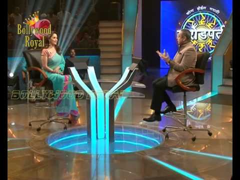 Promotion of the film 'Gulaab Gang' on set Marathi KBC 1