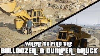 GTA 5 Bulldozer & Dumper Truck Locations
