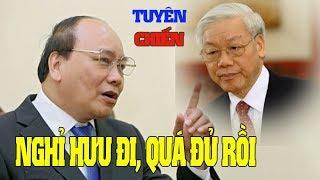 Lần đầu tiên Nguyễn Xuân Phúc ra mặt đòi Nguyễn Phú Trọng nghỉ nhường ghế tổng bí thư