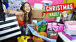 CHRISTMAS HAUL 2017!! Sephora, Patrick Starrr x MAC, Dove Cameron x Bellami & MORE!   Vlogmas Day 7