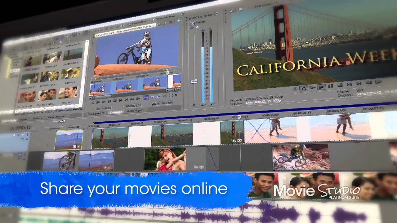 how to add transitions in sony movie studio