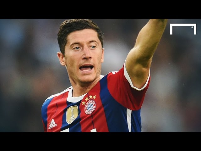 Lewandowski's first ever goal for Bayern Munich