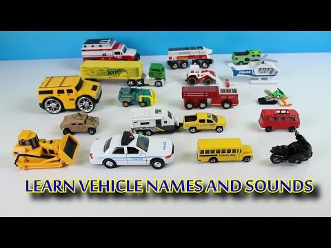 Learning Street Vehicle Names and Sounds for Kids