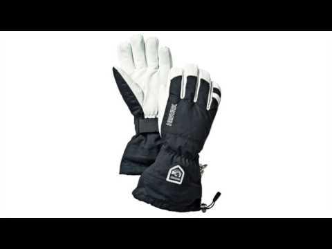 Hestra Ski Gloves Hestra Mens Army Leather Heli Ski Glove in Black