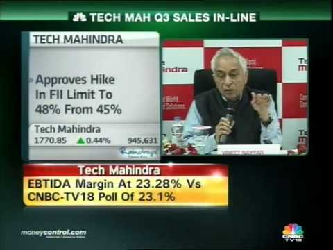Tech Mahindra Q3 net profit up 38% on exceptional gain -  Part 1