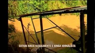 PM apreende draga em opera��o contra extra��o ilegal de areia em Itapecerica