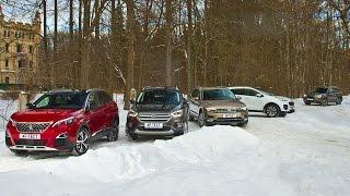 Вторая серия! Новый Tiguan, Sportage, Kuga, Forester и Peugeot 3008. Испытание холодом. Тесты АвтоРЕВЮ.