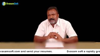 Tamil 3- Details explained for Svasam Soft the IT Company in Indiavideo