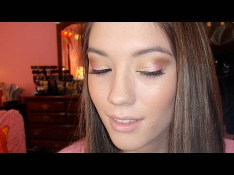 A Pink and Gold Valentines Day Makeup Tutorial