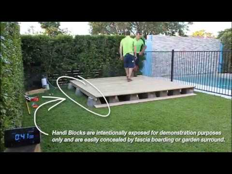 Lovely Instant Patio System Handi Block The One Hour Deck YouTube .