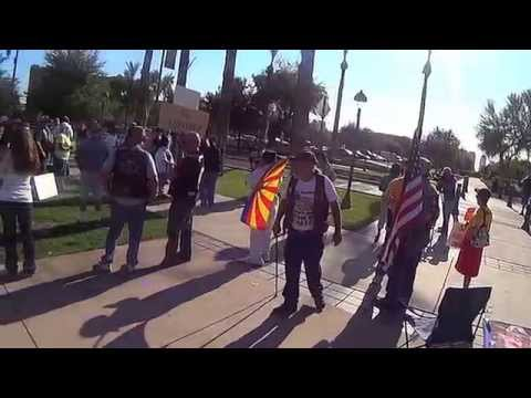 Immigration Reform and Amnesty Protest at AZ State Capitol 7/19/14