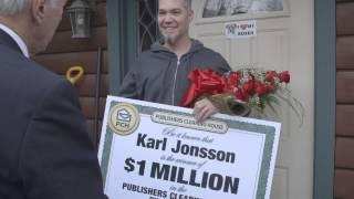 PCH December 16th $1 Million Winner Karl Jonsson