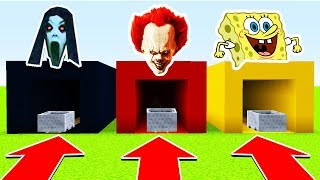 DO NOT CHOOSE THE WRONG MINECART (SLENDRINA, PENNYWISE, SPONEGBOB)(Ps3/Xbox360/PS4/XboxOne/PE/MCPE)