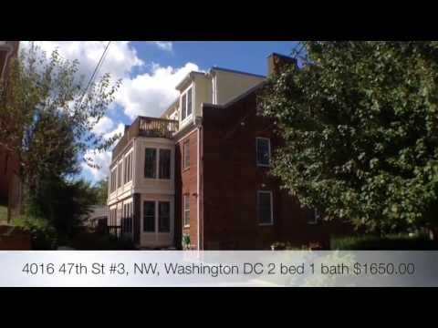 4016 47th St #3, NW, Washington DC Real Property Management DC Metro