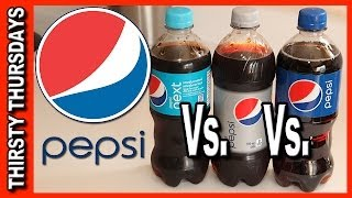 Pepsi Line Up Review and Blind Taste Test - Pepsi, Pepsi Next and Diet