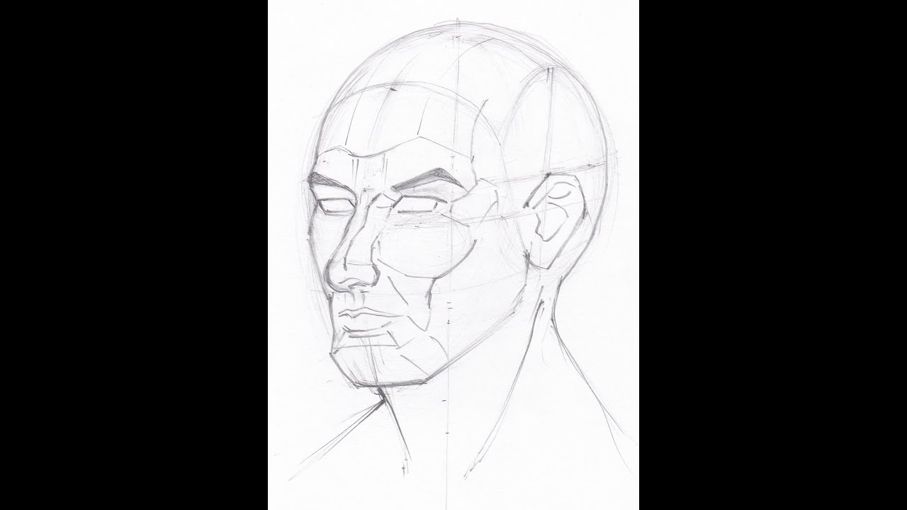Drawing Angled Lines In Draftsight : Drawing the head how to draw features in perspective