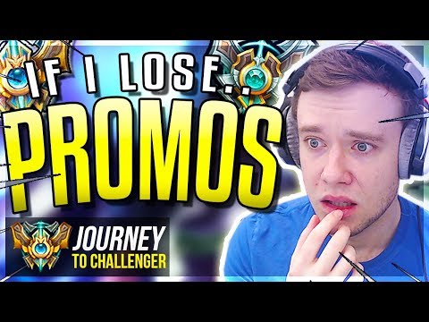 IF I LOSE MASTER PROMOS IT'S ALL OVER!!!!!!!! - Journey To Challenger | League of Legends
