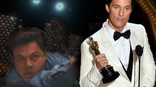 Matthew McConaughey Gets Interrupted At The Oscars 2014