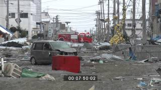 Japan Tsunami Aftermath Full Length Stock Footage - 15th March 2011 Part 1