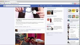 ¿Cómo Ocultar La Barra Lateral En Facebook? 2014