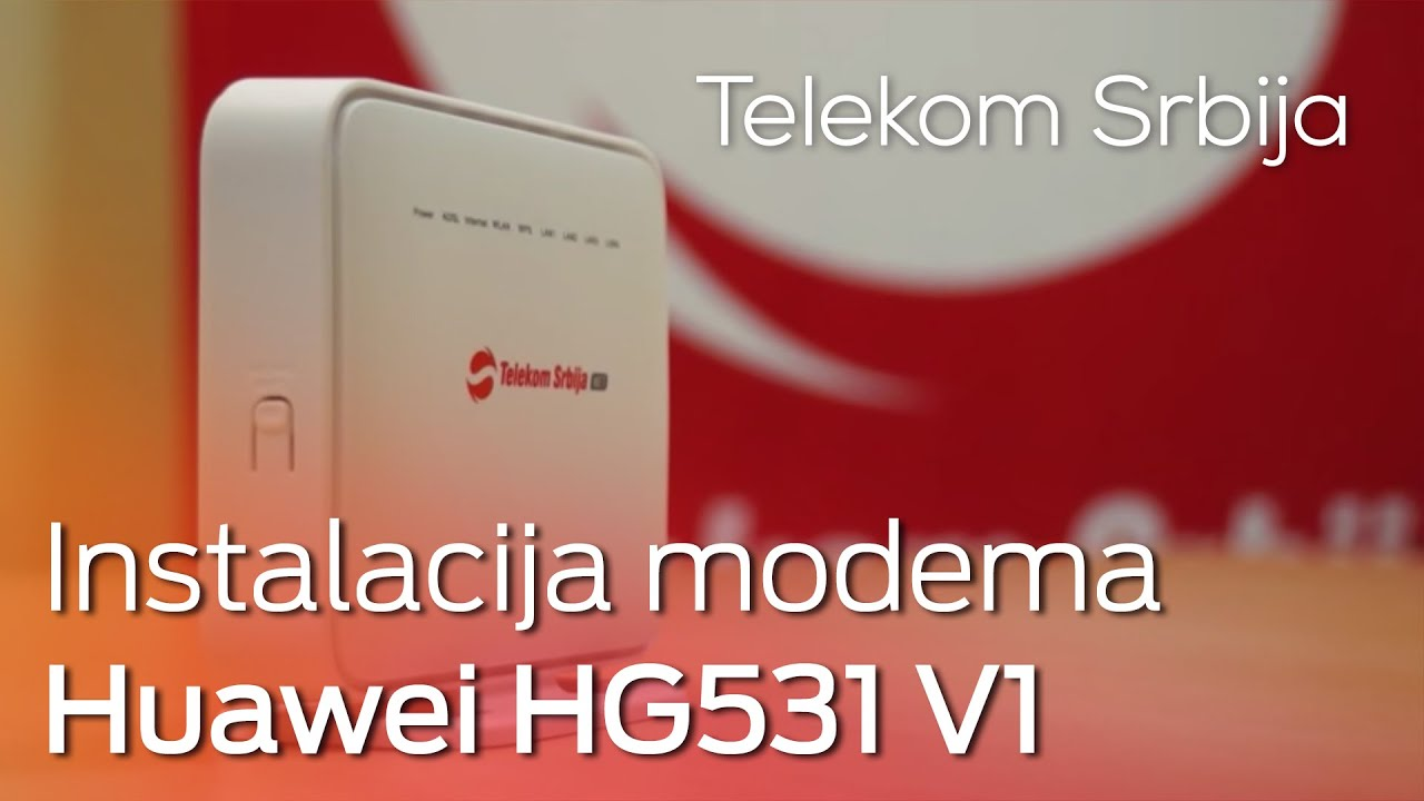 Instalacija modema Huawei HG531 V1 i podešavanje WLAN-a