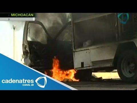 Incendian 4 gasolineras de Michoacán y atacan 18 subestaciones de la CFE