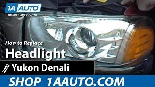 How To Install Replace Headlight 99-06 GMC Sierra Yukon