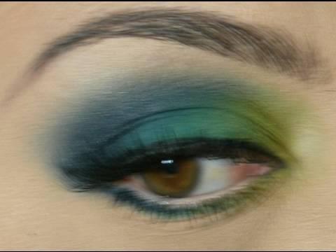 Verde y Azul...Técnica de Difuminado en Húmedo