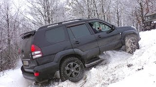 Крутой Подъем [Toyota Prado vs Mitsubishi Pajero Sport vs Nissan Pathfinder vs УАЗ vs Нива] off-road. Полный Привод 4х4 - Офф Роуд Видео.