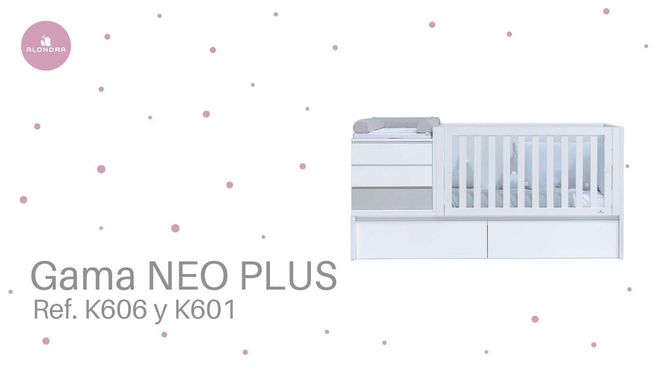 Cuna cama transformable de la serie NEO+ de Alondra (Refs. K601 ...