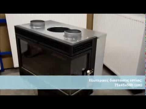 Κασέτα γωνιακή PALAZZETTI (Mod. Ecopalex 76 DX-SX)