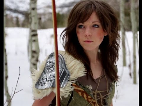 Skyrim- Peter Hollens & Lindsey Stirling, Tour tickets and info here: http://lindseystirlingviolin.com/tour/ Download the song off itunes http://bit.ly/SkyrimTheme ...or at this link http://bit.ly/Sk...