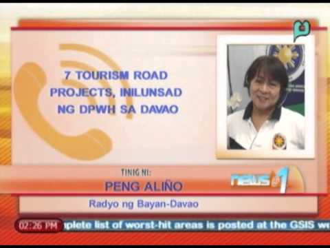 News@1: 7 tourism road projects, inilunsad ng DPWH sa Davao || Feb. 4, '14