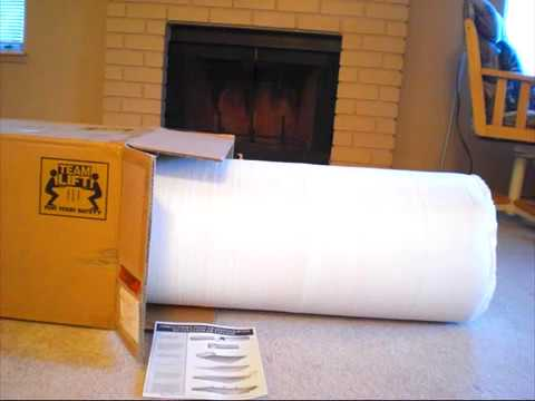 Roll Up Mattress Walmart Spa Sensation Memory Foam Mattress - YouTube