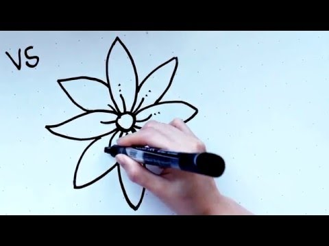 how to draw an open rose