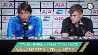 INTER vs MANCHESTER UNITED   ANTONIO CONTE and NICOLO' BARELLA PRE-MATCH PRESS CONFERENCE   ICC 2019