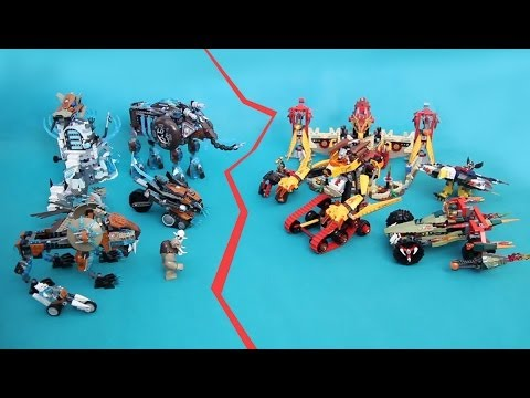 Epic Battle wit all CHIMA summer 2014 sets