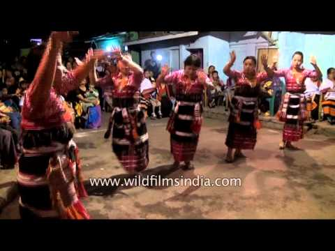 Kakhulong women displaying Rongmei Naga dance