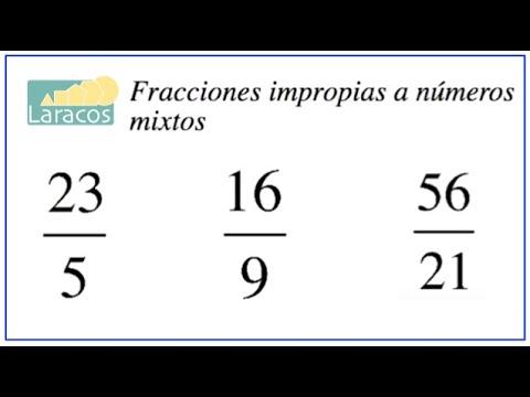 Fracciones Impropias a Mixtos