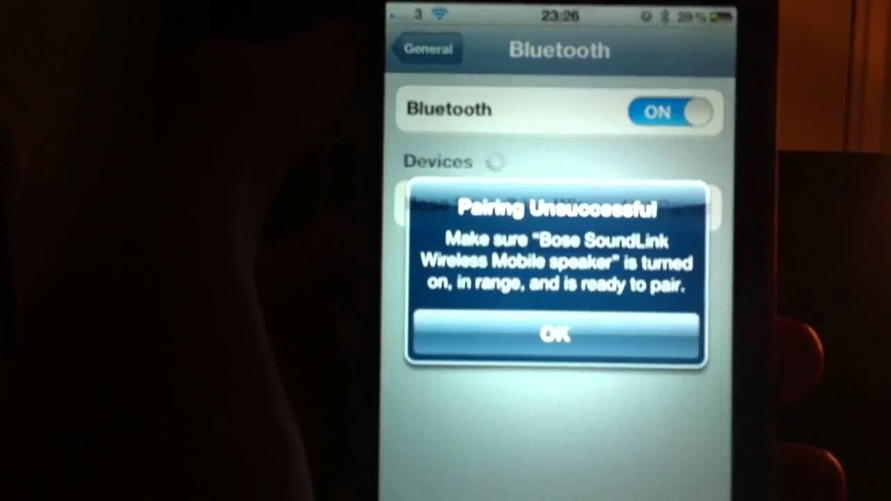 bose soundlink bluetooth speaker won 39 t connect youtube. Black Bedroom Furniture Sets. Home Design Ideas