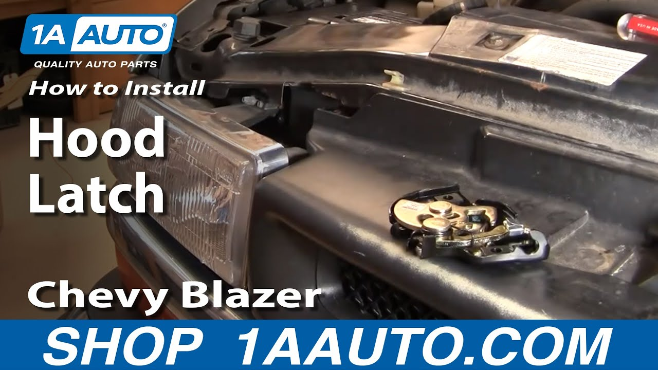 How To Install Replace Broken Hood Latch Chevy S10 Blazer
