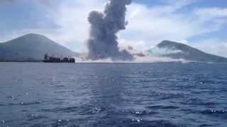 Gelombang laut efek dari letusan gunung berapi dilaur