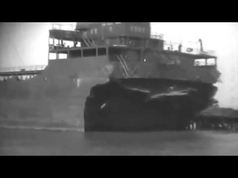 SS E.H. Blum (Broken In Half) Brought To Port, Philadelphia 5/19/42 (full)