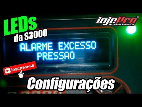 Configurações dos LEDs da S3000 - INJEPRO