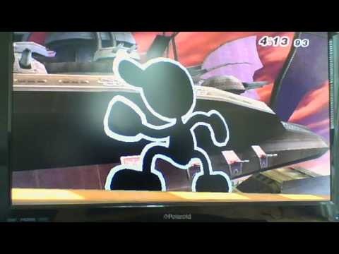 super smash bros brawl classic mode with mr game and watch