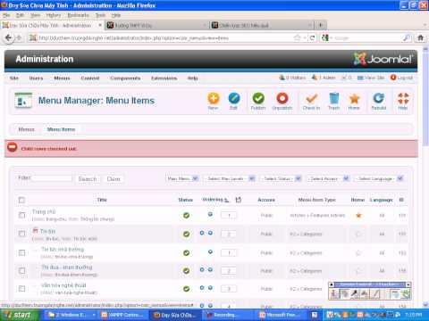 Joomla 2.5 - Form đăng ký trực tuyến - Bài 1