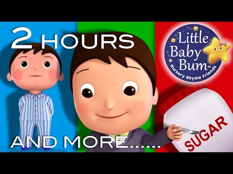 Johny Johny Yes Papa | And More! | 2 HOURS Nursery Rhyme Compilation from LittleBabyBum!