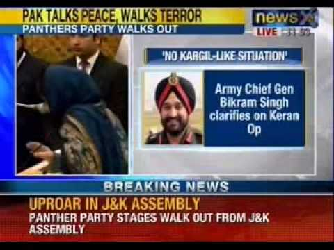 NewsX: Uproar in Jammu and Kashmir assembly over Keran encounter