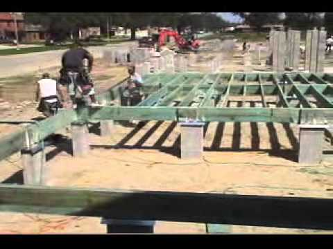 Raised Wood Floor Foundations Site Prep Amp Footings Youtube