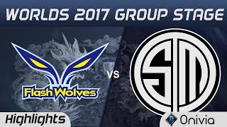 FW vs TSM Highlights World Championship 2017 Group Stage Flash Wolves vs Team Solo Mid by Onivia